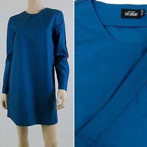 KATE SPADE SATURDAY Cross Over Shirt Dress Blue S
